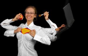 woman-multi-tasking